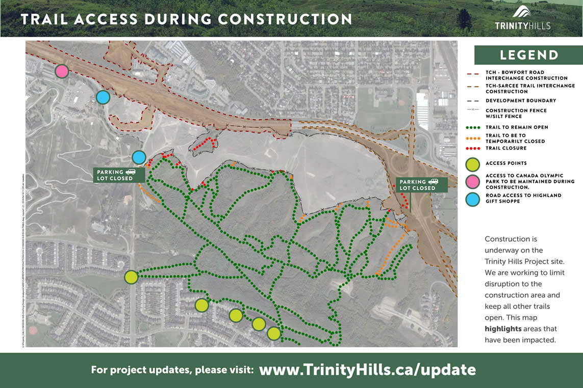 Biking and Walking Access Maintained to Paskapoo Slopes During Trinity Hills Construction