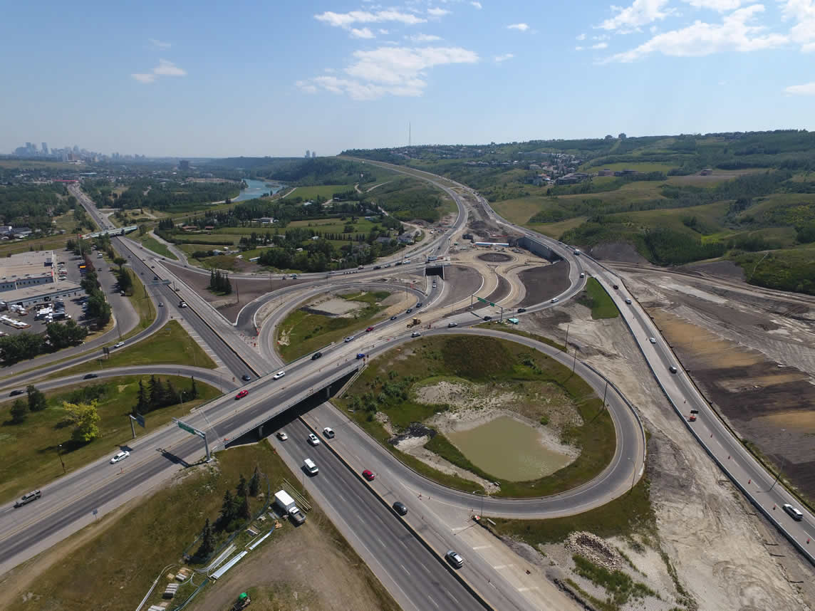 Sarcee Trail Interchange open and fully operational